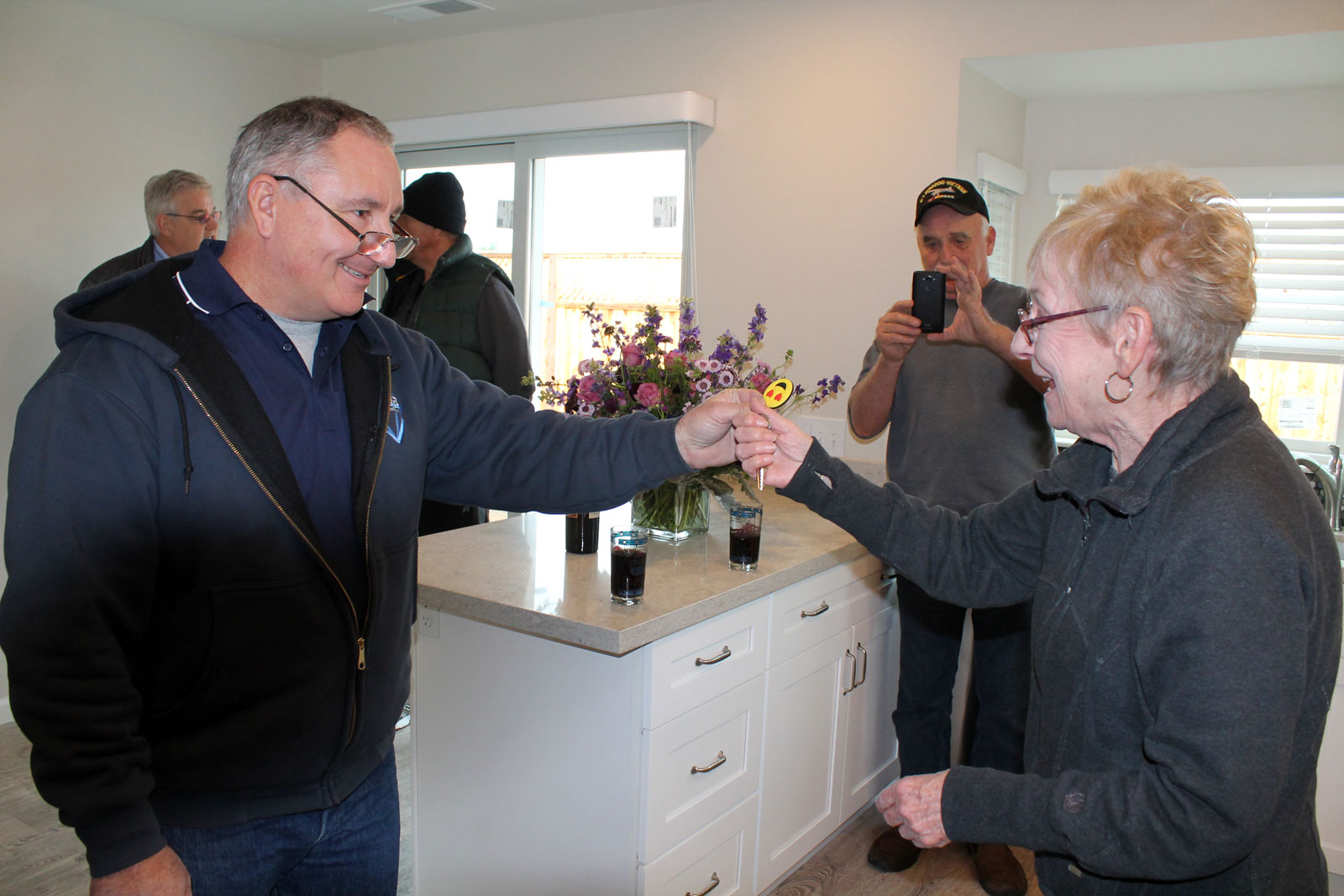 Prestige Homes & Remodel hands over keys to Jacque's newly rebuilt home in Santa Rosa!