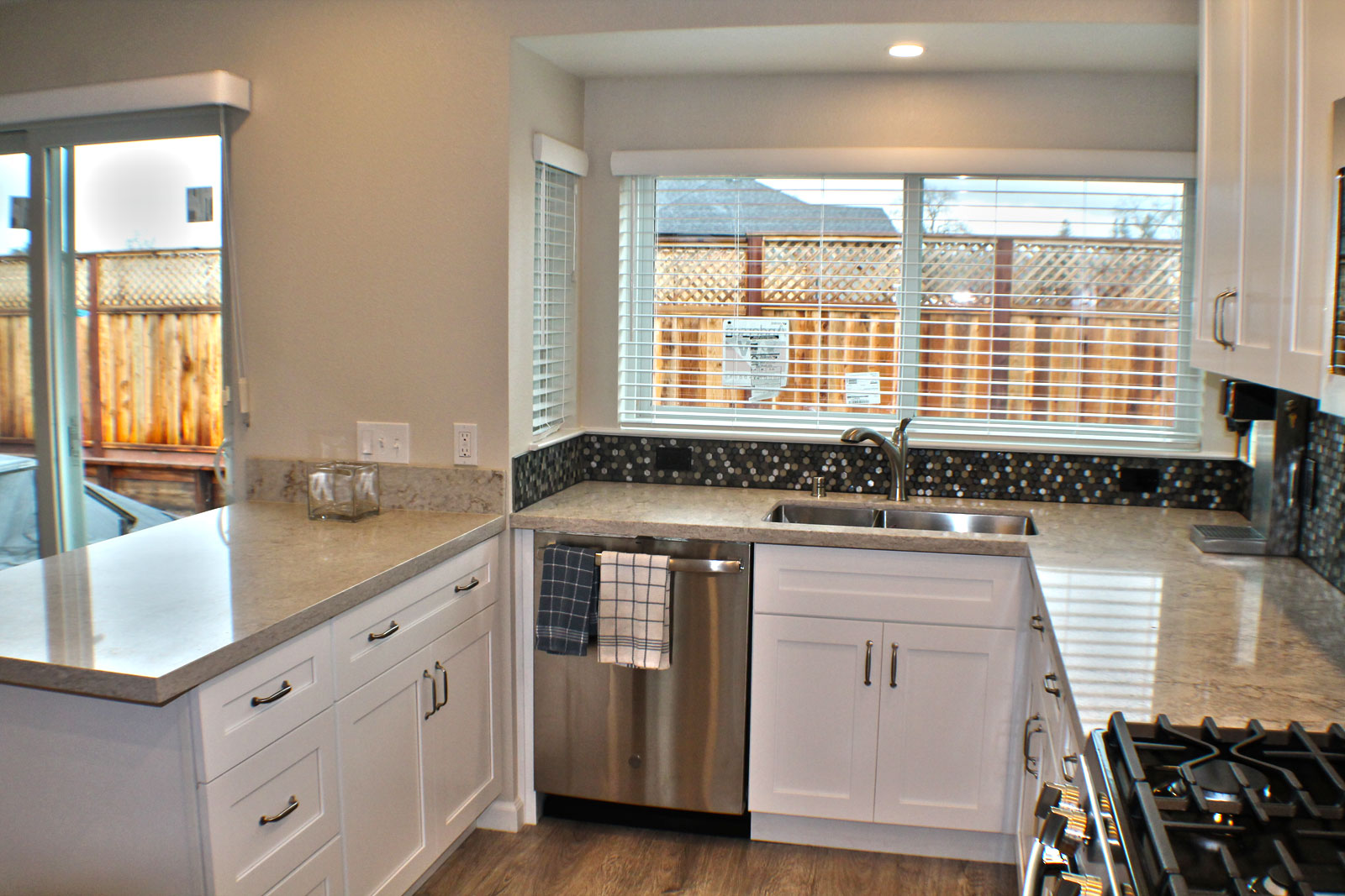 Custom kitchen in the newly remodeled Coffee Park home.